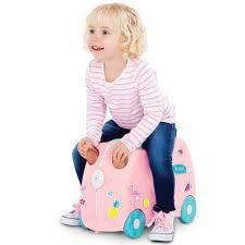 Детский чемодан-каталка <b>Фламинго Флосси</b> с наклейками купить ...