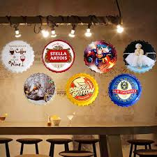 35cm vintage home decor bull dog round bottle cap tin signs art wall decor house cafe bar vintage metal signs in plaques signs from home garden on  on vintage metal art wall decor with 35cm vintage home decor bull dog round bottle cap tin signs art wall