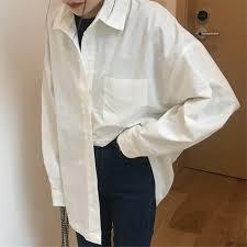 White Shirt Women's <b>Mid</b>-<b>Length Korean</b> Style2021New-Style ...