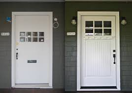 White Craftsman Style Front Doors — Charter Home Ideas : Craftsman ...