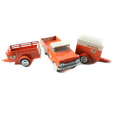 1960s Nylint Pressed Steel U-Haul Pickup Truck and Trailers : EBTH