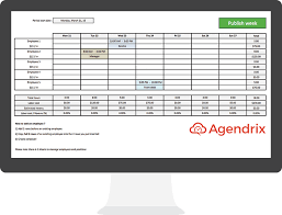 employee availability template excel best free excel schedule template for employee scheduling agendrix