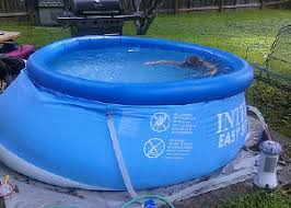 above ground inflatable pool. Brilliant Above Inflatable Ring Pool Problem Inside Above Ground