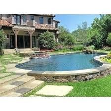 semi inground pool ideas. Semi Above Ground Pool Ideas Swimming Stone Wall Design Pictures Inground