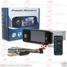 power acoustik pd 454b 4 5 inch single din in dash oversized and item 3 power acoustik pd 454b 4 5 lcd dvd bluetooth stereo w front usb aux input