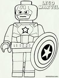 Lego Marvel Superheroes Coloring Pages With Lego Superhero Coloring
