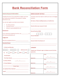 bank reconciliation form printable bank reconciliation form http resumesdesign com