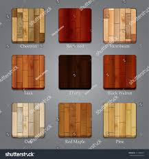 different types of wood furniture. set of icons with different types wood textures furniture