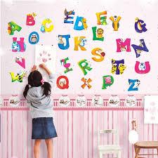 home décor cartoon colorful 26 letters