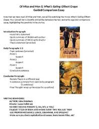 of mice and men what s eating gilbert grape guided comparison essay