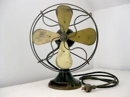 antique desk fan