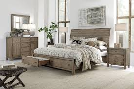 Aspenhome Tildon Sleigh Storage Bedroom Set in Mink I56 400SET