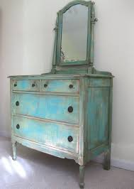 blue shabby chic furniture. Painted ANTIQUE French Country Cottage Chic Shabby Distressed Aqua / Turquoise Dresser And Mirror Blue Furniture