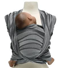 Didymos Woven Wrap Baby Carrier - Waves Silver - Wild Was Mama