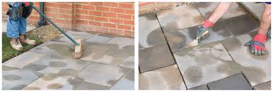 how to install paving slabs clearance