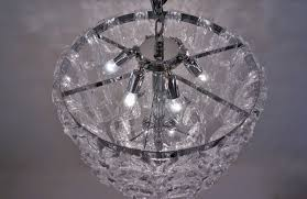 angelo mangiarotti style chandelier murano glass chain link chrome frame italian in contemporary collection from roomscape