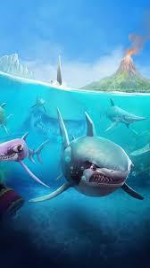 tiger shark iphone wallpaper. Interesting Wallpaper Hungry Shark World IOS Android Shark Vertical For Tiger Iphone Wallpaper