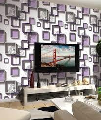 Modern purple patterned 3D Wallpaper ...