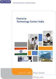 Faurecia Design Center Pune Faurecia Technology Center India June 21 2012 Pune India