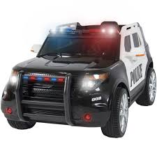 Remote Control Police Car With Working Lights And Siren Best Choice Products 12v Kids Powered Ford Style Police Rc