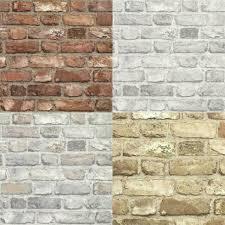 brick stone wall effect wallpaper roll