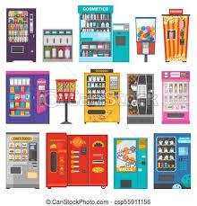 Vending Machine Clip Art Magnificent Vending Machine Vector Vend Food Or Beverages And Vendor Machinery
