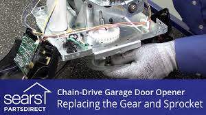 replacing the gear and sprocket assembly on a chain drive garage door opener you