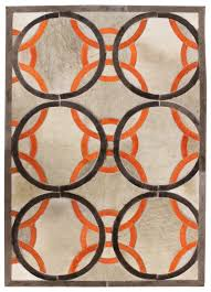 premium leather hide rugs gallery ribbon modern leather rug made in argentina