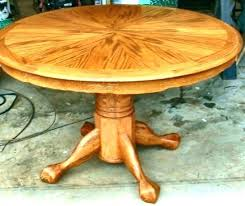 round oak pedestal dining table with leaf the beauty of room antique tiger round oak pedestal dining table