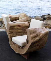 26 Awesome Outside Seating Ideas You Can Make with Recycled Items. Log  FurnitureOutdoor Furniture DesignNatural FurnitureTree Stump ...