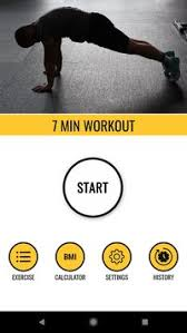 7 minute workout calories burn app poster