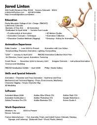 3d Animator Resume