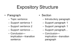 simple rules for organizing an essay that argues a point ppt  7 expository structure paragraph section topic sentence support sentence 1 support sentence 2 support sentence conclusion implication transition sentence