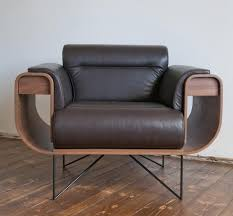 el purista classy leather smoking with slide out arm rest drawers