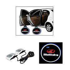 chitra traders 2x car logo led shadow wele light door projector for mahindra ssangyong rexton rx7 sel