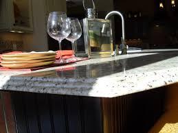 Venetian Gold Granite Kitchen Triple Waterfall Edge On New Venetian Gold Kitchen Countertop