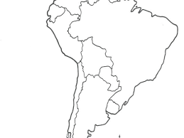 Maps South Related Post Physical Of Map Quiz Blank Latin America