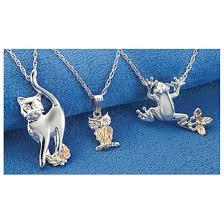 black hills gold cat owl or frog necklace