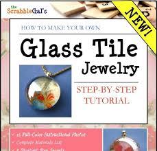 glass tile jewelry tutorial