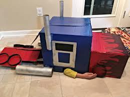 diy optimus prime transforming costume