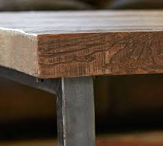 Image Pipe Pinterest Griffin Reclaimed Wood End Table Pottery Barn