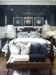 Awesome Navy And White Bedroom Blue With Dark Brown Furniture A Grey