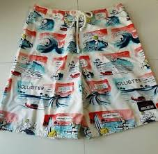 Hollister Bathing Suit Size Chart Details About Hollister Mens Guys Boardshorts Comic Swim Suit Board Swimwear Shorts Trunk Sz L