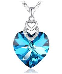 80 off sterling silver heart shape pendant necklace with swarovski crystals