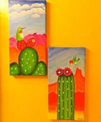 hummingbird cactus by pamela