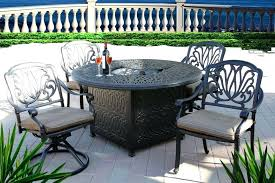 patio dining table with fire pit cool outdoor patio dining set round fire pit table antique