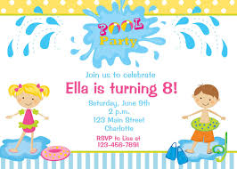 Kids Pool Party Invite - Kleo.beachfix.co