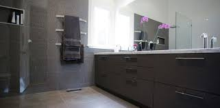 bathroom vanity built in bathroom cabinets with stone benchtop stainless handles and laminate doors