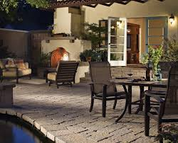 pool side patio with dining area