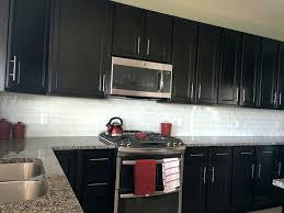 backsplash for dark cabinets white glass subway tile with dark cabinets backsplash for black cabinets and white countertops